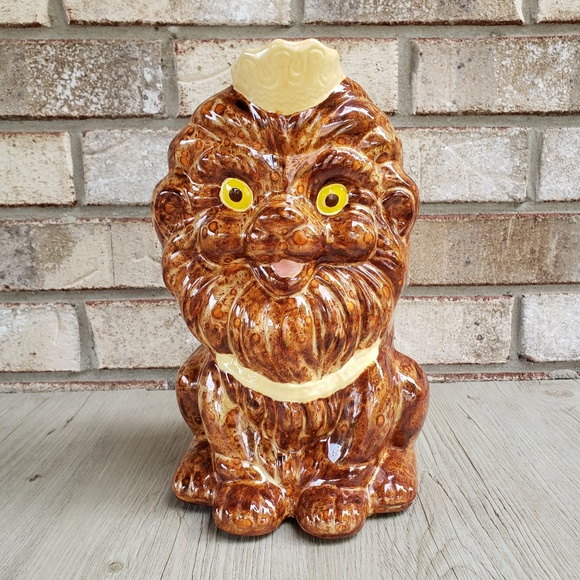Vintage Other - Vintage Lion Coin Bank w/ Crown and Collar